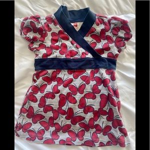 TEA Collection Butterfly Dress- 12-18 Month